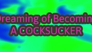 Dreaming that your girlfriend turns into a shemale and takes you to suck your first cock